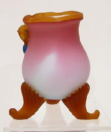 Five-color Art Glass Vase Reverse