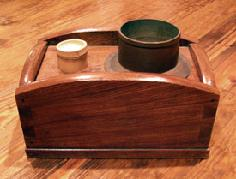 Japanese Antique Tobakobon Arched Sides