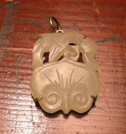 Antique Carved Pierced Jade Ruyi Pendant