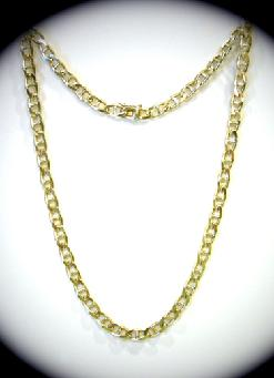14K Yellow Gold Marine Link Necklace - 21""