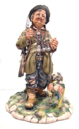 Capodimonte Figure of a Hunter and Dog (Milios)