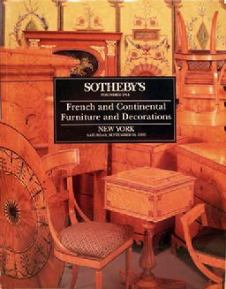 Vintage Sotheby Auction Catalogue: French & Continental Furniture & Decorations - NY- 1992