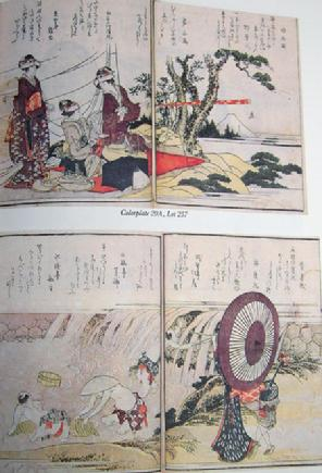 Sotheby Auction Catalogue - June Japanese Prints/Book including Leonard Schlosser Collection of Illustrated Books - NY - June 4, 1992 - Sample Page