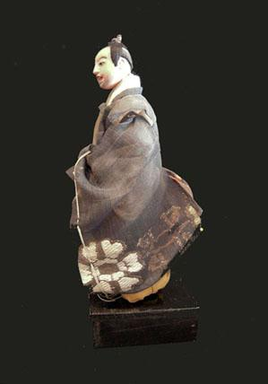 Antique Japanese Takeda Ningyo (Doll)- Actor - Left View