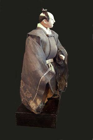 Antique Japanese Takeda Ningyo (Doll)- Actor - Side View