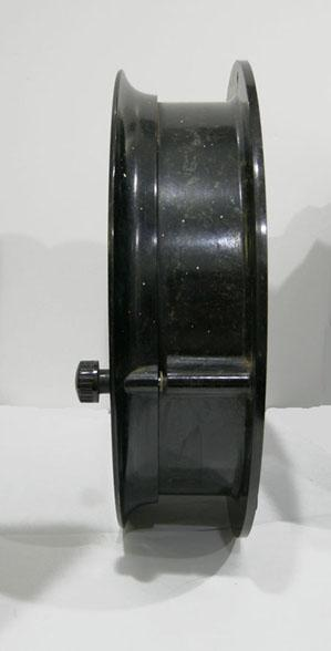 Original U.S. Maritime Commission Chronometer Ship's Clock with Key - 1930s-40s - Side View