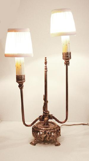 Art Nouveau Brass Lamp - 1910