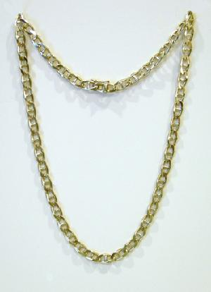 "14K Yellow Gold Marine Link Necklace - 21"" - 1970's"
