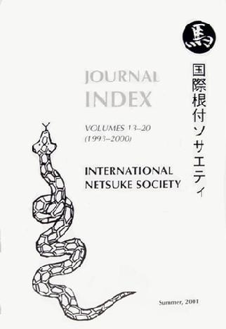 Journal Index of the International Netsuke Society - Vol 13-20 - 2001