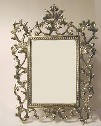 Old World Style Elaborate Metal Picture Frame - Estate