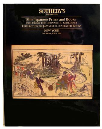 Sotheby Auction Catalogue - June Japanese Prints/Book including Leonard Schlosser Collection of Illustrated Books - NY - June 4, 1992