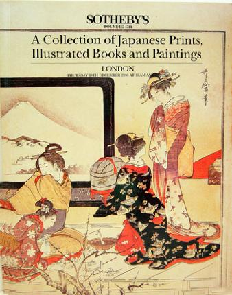 Sotheby Auction Catalogue -Japanese Prints, Illustrated Books and Paintings - London- 1986