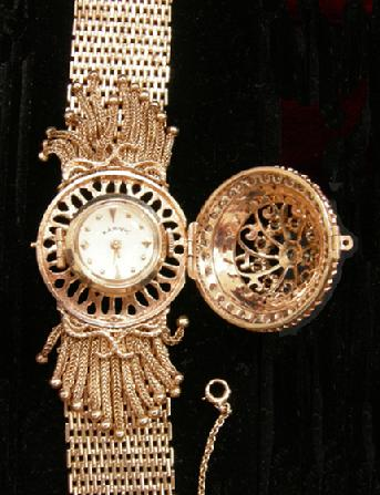 Antique 14K YG and Diamond Rosiers Watch with Kar-Vic on the Dial - Open to Wind