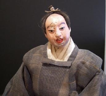 Antique Japanese Takeda Ningyo (Doll)- Actor - Closeup View