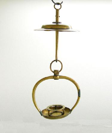 Antique/Vintage Japanese Brass Buddhist Hanging Candle Holder ( Votive Lamp)