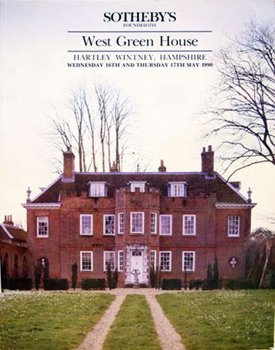 Vintage Sotheby Auction Catalogue: West Green House-Hartley Wintney Hampshire - 1990