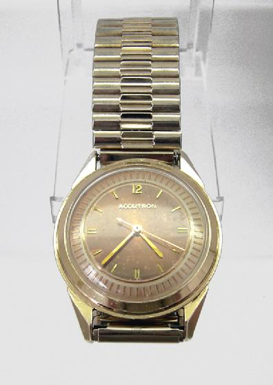 18k YG Accutron 214 Tuning Fork Watch -1961
