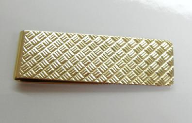 Vintage Men's 14k (585) YG Textured Money Clip