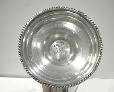 Early 20th c., Sterling (925) Mexican Silver Alladin's Lamp - View of Marks