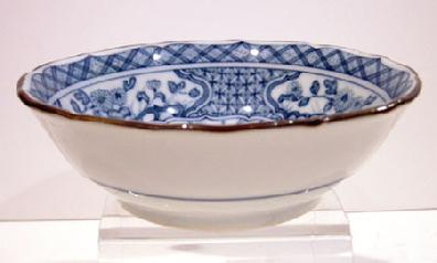 Old Japanese Blue and White Inban Dish - View 3