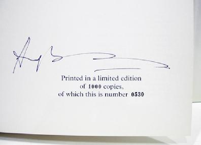 Rare Books- By Imperial Command - Hugh Moss Limited Edition No. 530 Signed by Hugh Moss - 2 Volumes - 1976 - View of Signature