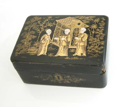 Chinese Export Lacquer and Gilt Box - Alternate View1