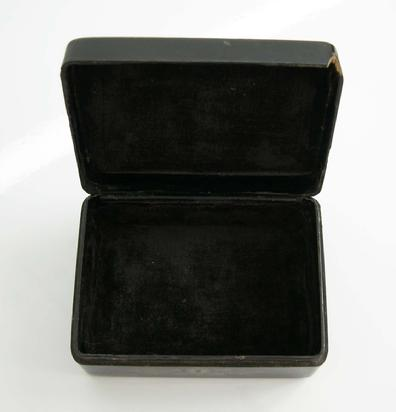 Chinese Export Lacquer Box - Interior View