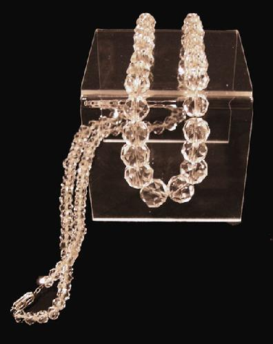 Long Rock Crystal Graduated and Faceted Necklace - 1920s - View 2