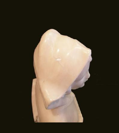 Antique White Marble Bust of a Woman - View From the Top