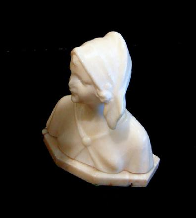Antique White Marble Bust of a Woman - Side View