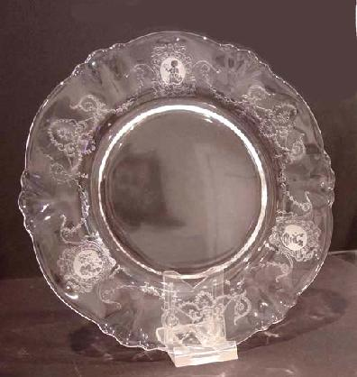 Heisey Crystal Minuet Salad Plate Closeup View 2