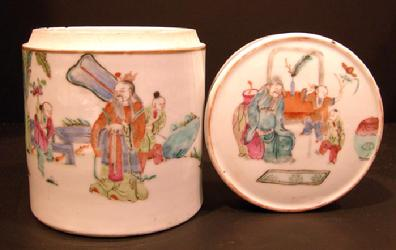 Cabinet Article-Set of Four Chinese Famille Rose Nested Boxs - 19th c. - Largest Box