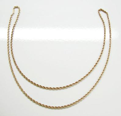 14K YG Rope Chain Necklace-3mm.- 52 g - Alternate View 2