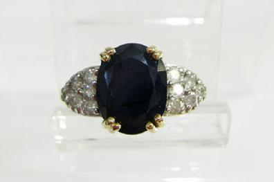 Vintage 14K Yellow Gold Sapphire/Diamond Ring - Estate
