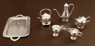 Miniature Sterling 10-Piece Teaset- Individual View
