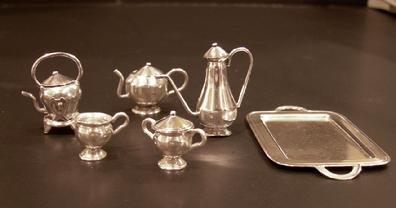 Miniature Sterling 10-Piece Teaset- Off Tray