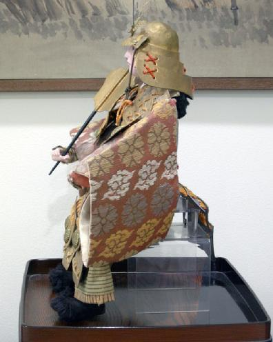 Large Antique Japanese Musha-e Ningyo (Warrior) Doll for the Boys' Day Festival - Minamoto no Yoshitune - Left Side View