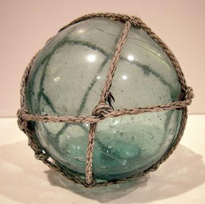 Antique Japanese Teal/Aqua Fishing Float