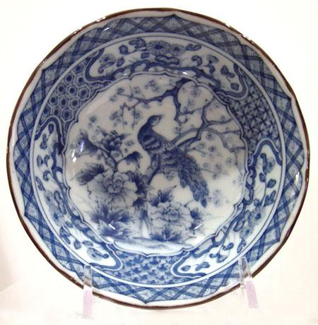 Old Japanese Blue and White Inban Dish