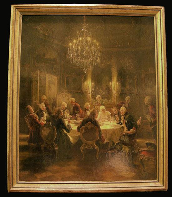French Style Print - The Repast - Georg Schobel - Early 20th c.
