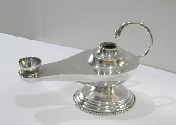 Early 20th c., Sterling (925) Mexican Silver Alladin's Lamp