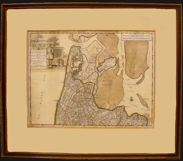 Rare Dutch Map by Covens & Mortier c. 1750