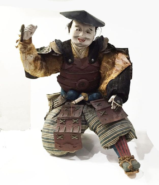 Large Antique Japanese Musha-e Retainer/ Standard Bearer Doll
