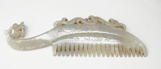 Chinese Jade Dragon Comb - Side 2