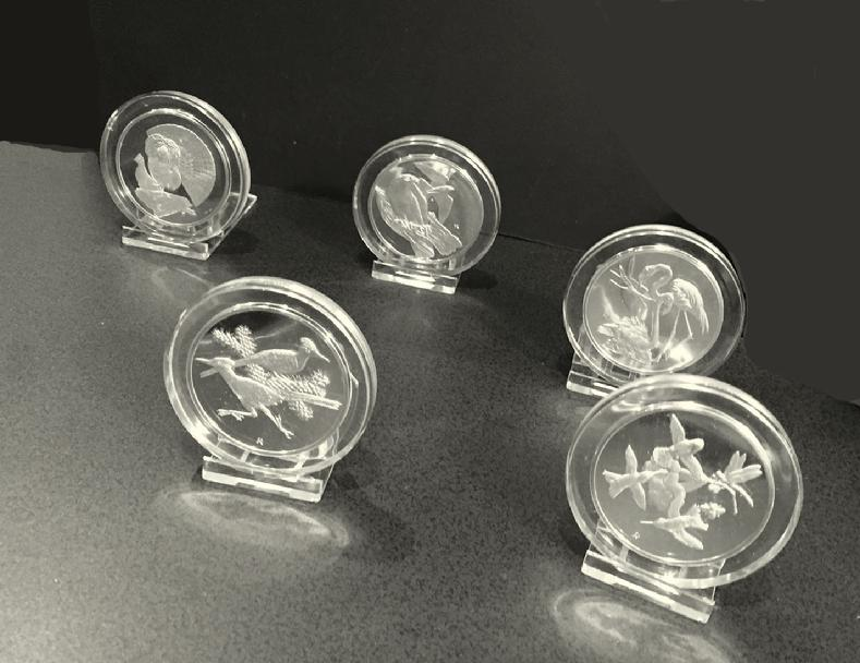 Series II Set of Sterling Silver Roberts Birds Medals - 1971 - by Gilroy Roberts