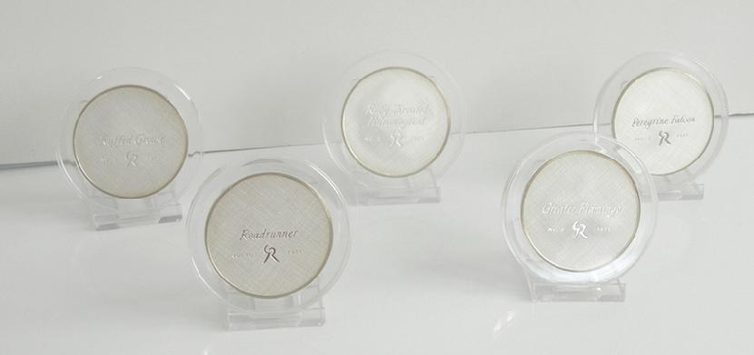 Series II Set of Sterling Silver Roberts Birds Medals - 1971 - by Gilroy Roberts - Reverse View